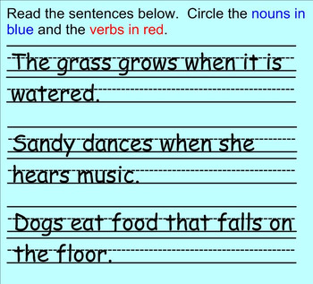 Writing in Complete Sentences