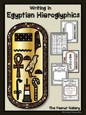 Writing in Egyptian Hieroglyphics