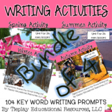 BUNDLE Seasonal Scenes 104 Writing Prompts Unit Interactive Whiteboard
