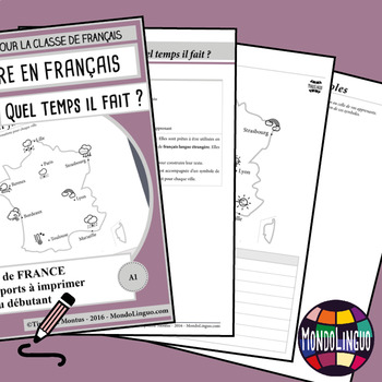 Writing in French/FFL/FLS - Cartes France/Weather in France