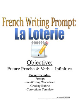 Future Proche French Writing Prompt & Rubric