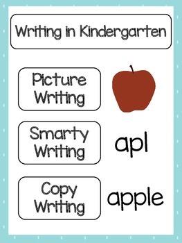 Writing in Kindergarten Printables