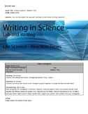 Writing in Life Science - Reaction Times