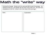 Writing in Math 1