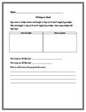 Math Daily 5-Writing in Math 3