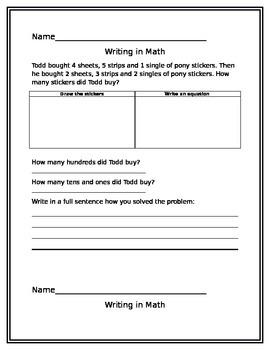 Writing in Math 5