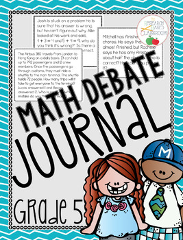 Writing in Math: Debate Journaling for Grade 5