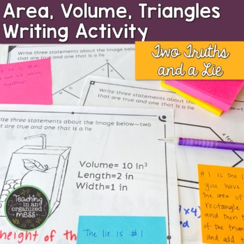 Writing in Math--Geometry--Two Truths and a Lie