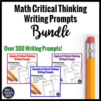 Writing in Math Journal Prompts BUNDLE