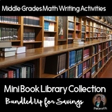 Writing in Math Mini Books Middle Grades BUNDLE