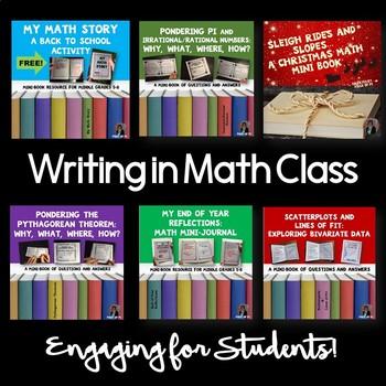 Writing in Math Mini Books Middle Grades BUNDLE