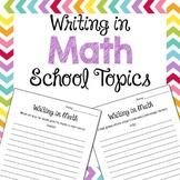 Writing in Math {School Math Topics}