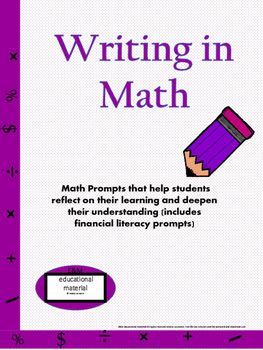 Writing in Math Selection
