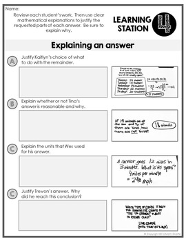 Writing in Math Skills Pack: Doodle Note & Writing Practice Stations