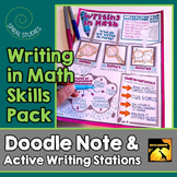 Writing in Math Skills Pack: Doodle Note & Writing Practic