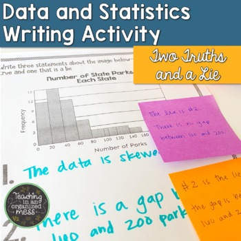 Writing in Math--Statistics--Two Truths and a Lie