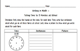 Writing in Math - Telling Time to 5 Minutes