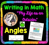 """Writing in Math about Angles """"My Life as an Outsider"""" Acute or Obtuse Activity"""