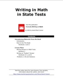 Writing in Math in State Tests (Elementary)