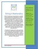 Writing in Mathematics