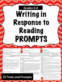 Writing In Response to Reading Prompts