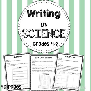 Writing in Science - Cross Curricular Ideas for the Science Classroom