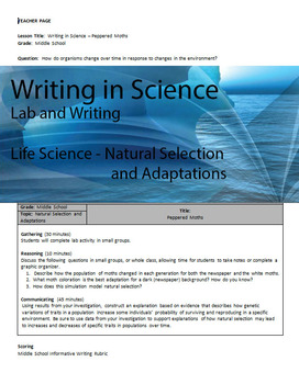 Writing in Life Science - Natural Selection and Adaptations
