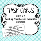 Writing in Scientific Notation Task Cards