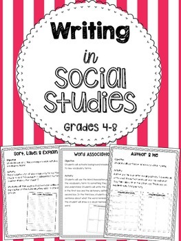 Writing in Social Studies - Cross Curricular Ideas for Soc