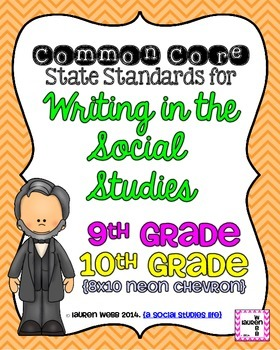 9th and 10th grade Writing in Social Studies Common Core S