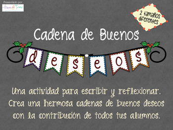 Writing in Spanish. Make a banner with best wishes Christmas New Year. Español.