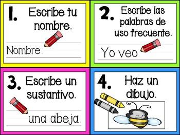 Writing in Spanish using Sentence Stems
