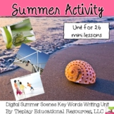 Summer Scenes Writing Prompts Unit Interactive Whiteboard English Language Arts