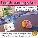 Digital Summer Scenes Writing Prompts Unit