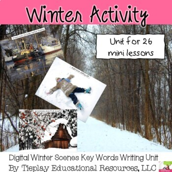 Winter Scenic Writing Prompts Unit Interactive Whiteboard