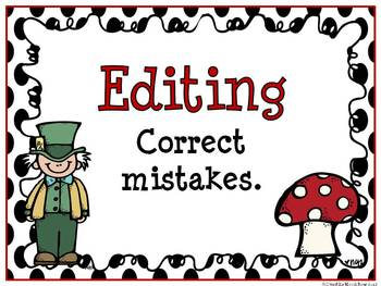 Writing in Wonderland - Writing Process Displays