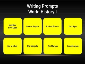 24 Awesome Writing Prompts for World History