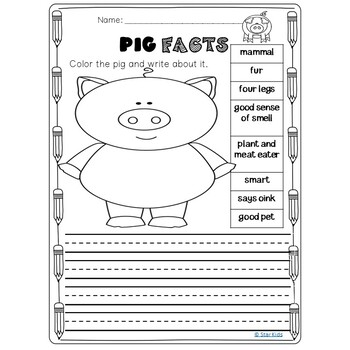 Spring and Summer Writing for Kindergarten and First Grade