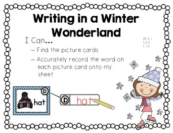 Writing in a Winter Wonderland {A Winter Themed Write-the-Room}