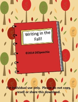 Writing in the Fall!