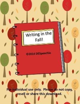 Writing in the Fall!