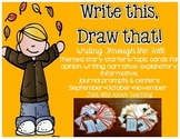 Write This & Draw That!{fall story starters with topics cards and printables}