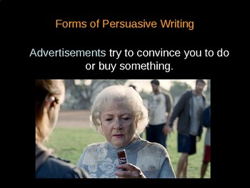 Writing in the Persuasive Mode Powerpoint