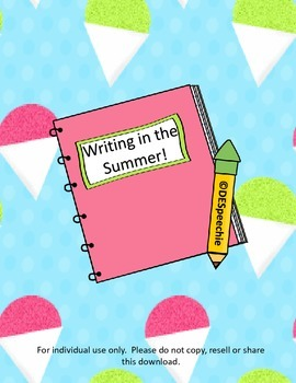 Writing in the Summer!