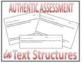 Writing in the Text Structures Worksheets and Quiz