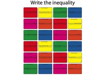 Writing inequalities Worksheet (Colored Version)