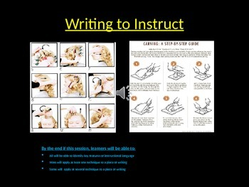 Writing instructions