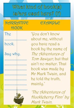 Writing introductions using narrative hooks