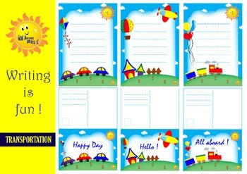Writing is Fun! ~ Papers and Postcards : TRANSPORTATION