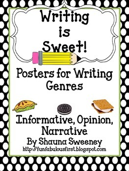 Writing is Sweet Writing Posters Pack